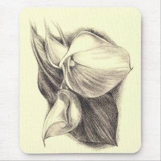 Calla Lilies Drawing Mouse Pad