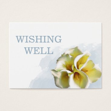 calla lilies Floral wedding wishing well Business Card