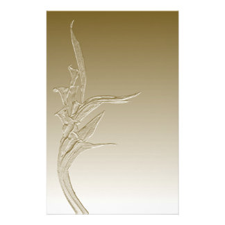 Calla Lilies Gold Art Stationery