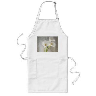 calla lilies long apron