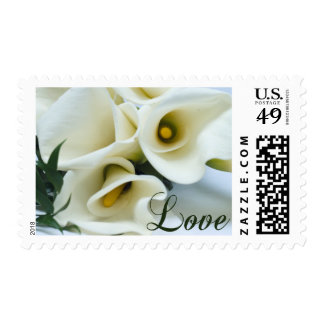 Calla Lilies Love Postage Stamps
