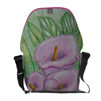 Calla lilies messenger bags