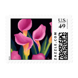 Calla lilies postage stamps