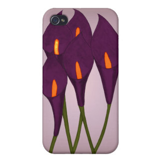 Calla Lilies (Purple) Cases For iPhone 4
