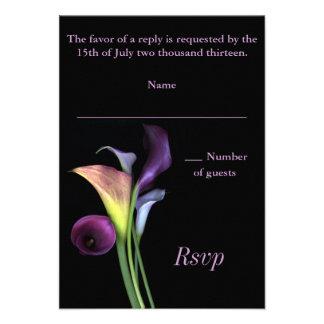 Calla Lilies RSVP card