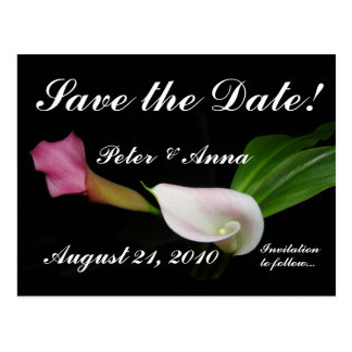 Calla Lilies Save the Date Postcard