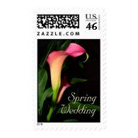 Calla Lilies Spring Wedding Postage