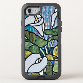 Calla Lilies Stain Glass Look OtterBox Defender iPhone 8/7 Case