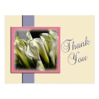 Calla Lilies Thank You Postcard Template