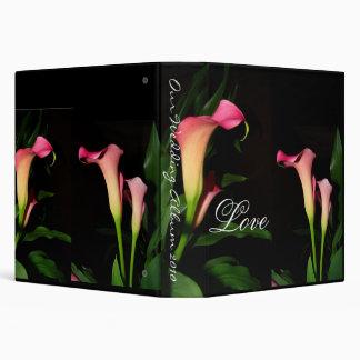 Calla Lilies Wedding Album Binder