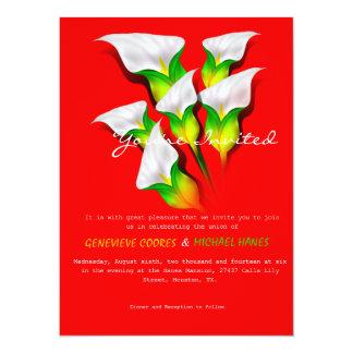 Calla Lilies Wedding Invitation (Vers.2)