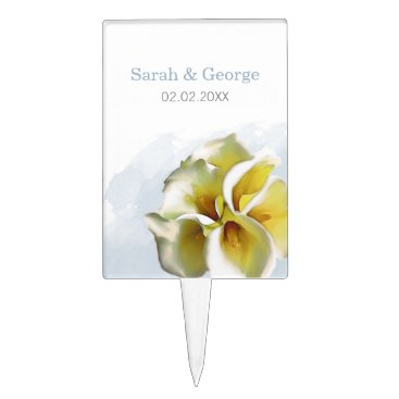 calla lilies Wedding personalized cake picks