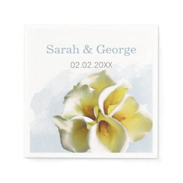 calla lilies Wedding personalized napkins