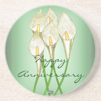 Calla Lilies (White) (anniversary) Coaster