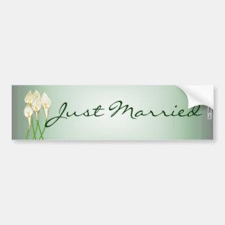 Calla Lilies (White) Bumper Sticker