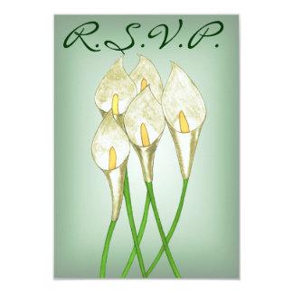 Calla Lilies (White) R.S.V.P Card
