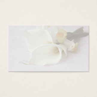 calla lilies with iris business card