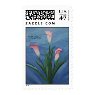 """Calla Lillies"" Postage Stamp"