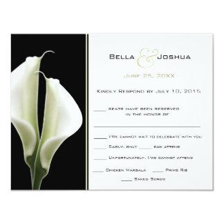 "Calla Lillies RSVP 4.25"" X 5.5"" Invitation Card"
