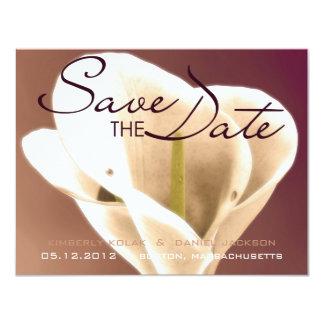 Calla Lillies • Save the Date 4.25x5.5 Paper Invitation Card
