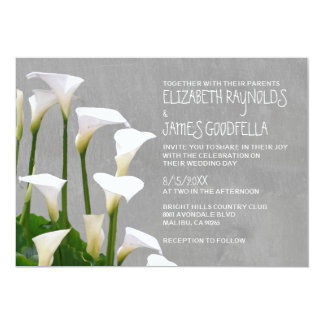Calla Lillies Wedding Invitations