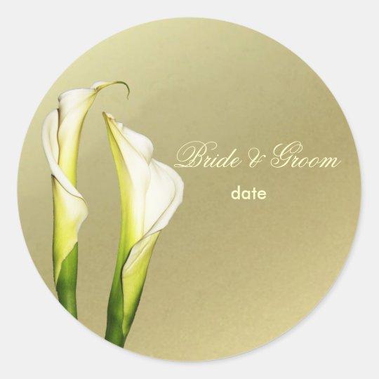 Calla Lillies wedding stickers