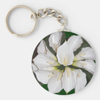 Calla lilly blooms keychain