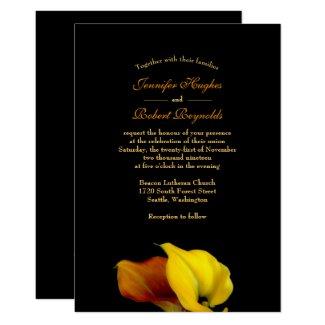 Calla Lilly Wedding Invitation