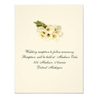 Calla Lilly Wedding Invitation Reception card