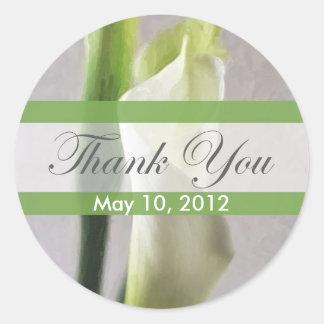Calla Lily 1 Thank You Classic Round Sticker