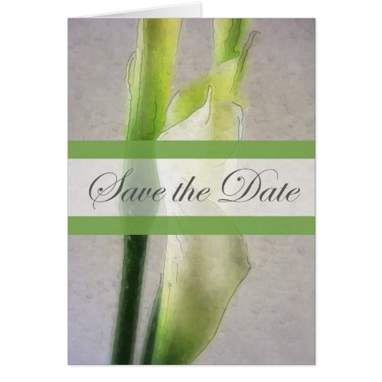 Calla Lily 1 Watercolor Save the Date Wedding Card