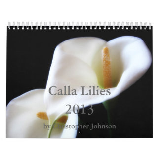 Calla Lily 2013 Calendar