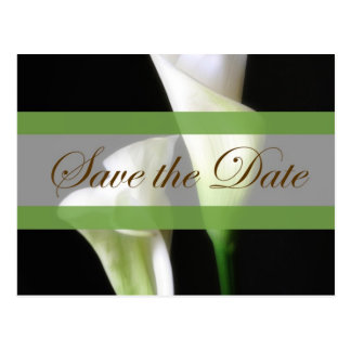 Calla Lily 2 Save the Date Wedding Postcards