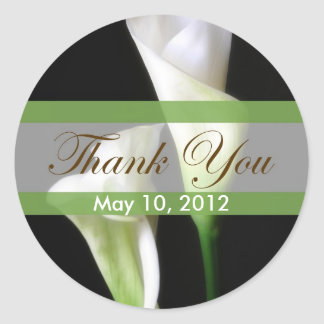 Calla Lily 2 Thank You Classic Round Sticker