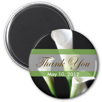 Calla Lily 3 Thank You 2 Inch Round Magnet