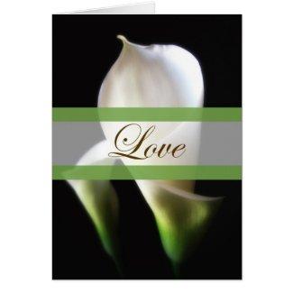 Calla Lily 4 Love Wedding card