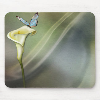 Calla Lily and Butterfly Mouse Pad