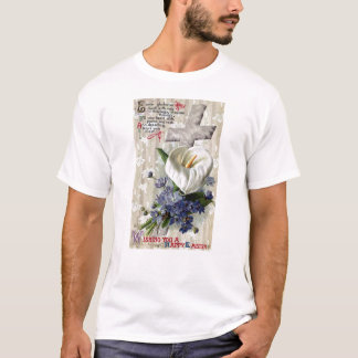 Calla Lily and Cross Vintage Easter T-Shirt