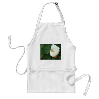 Calla Lily and Little Orange Flower Adult Apron