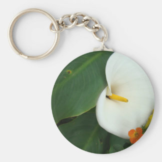 Calla Lily and Little Orange Flower Keychain
