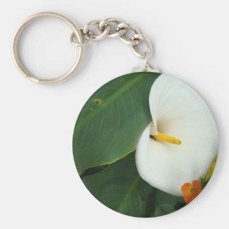 Calla Lily and Little Orange Flower Keychain