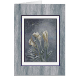 calla lily antique series 3 greeting card