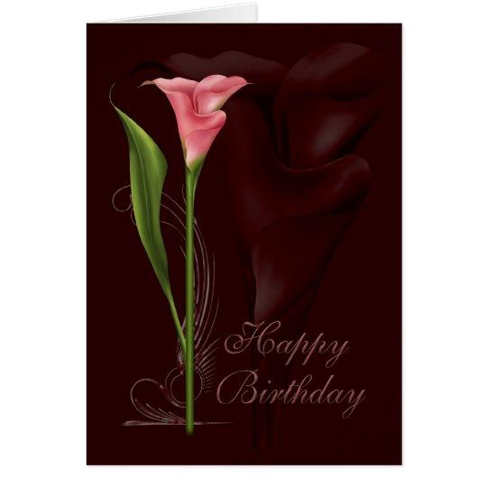 Calla Lily Birthday Card