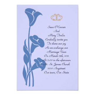 Calla Lily Blue Invitation