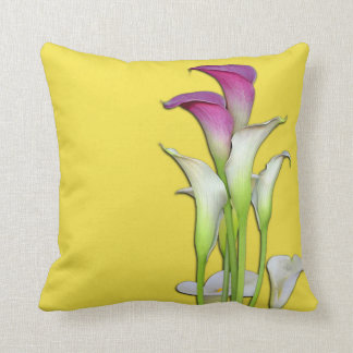 Calla Lily Bouquet Yellow Pillow