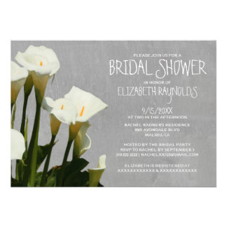 Calla Lily Bridal Shower Invitations Personalized Announcements