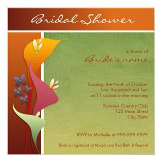 Calla Lily Bridal Shower Invitations