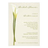 Calla Lily Bridal Shower Invitations