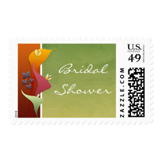Calla Lily Bridal Shower postage stamps