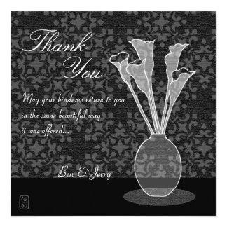 Calla Lily Custom Thank You Card